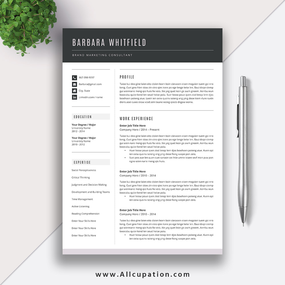 incredibly beautiful and affordable ms office word resume template with matching cover letter