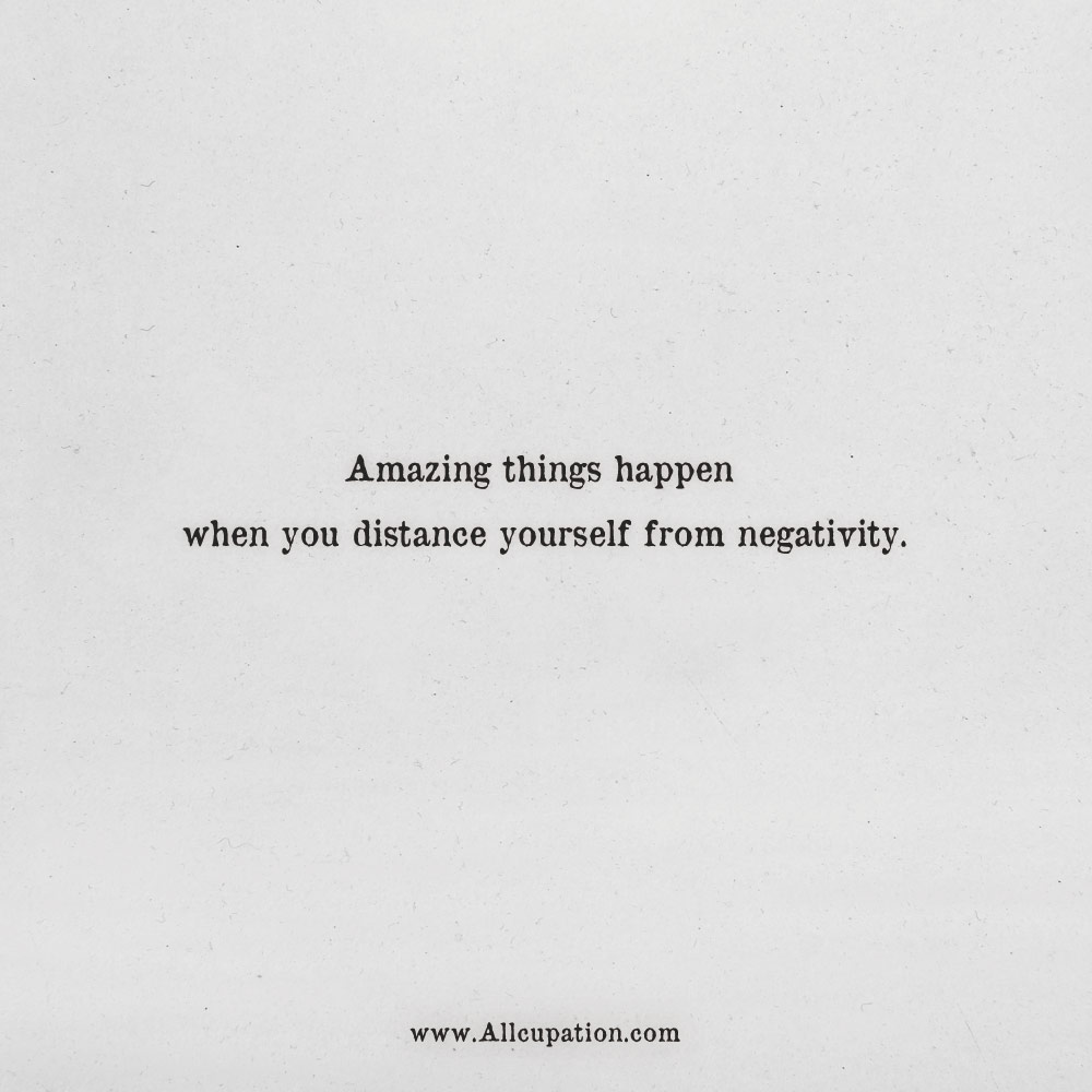 Quotes of the Day: Amazing things happen when you distance