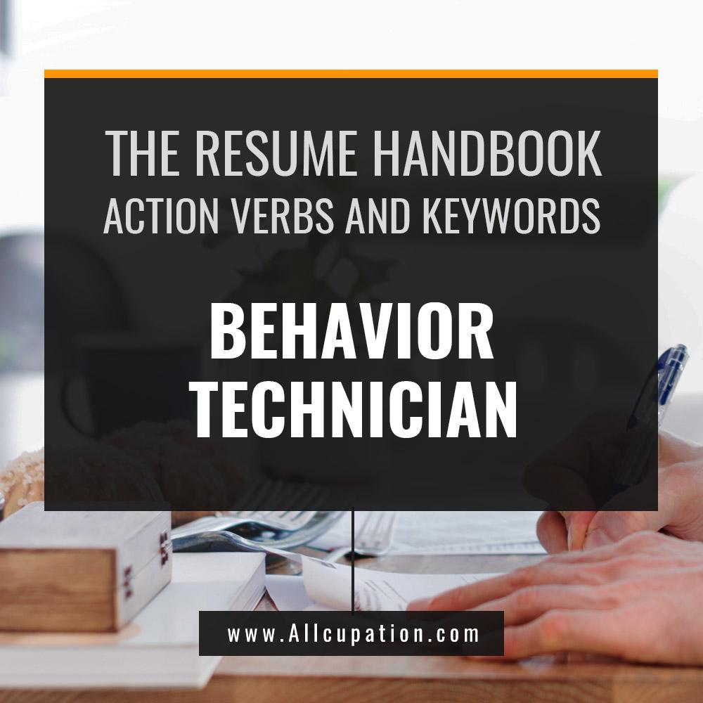 the resume handbook  behavior technician resume samples