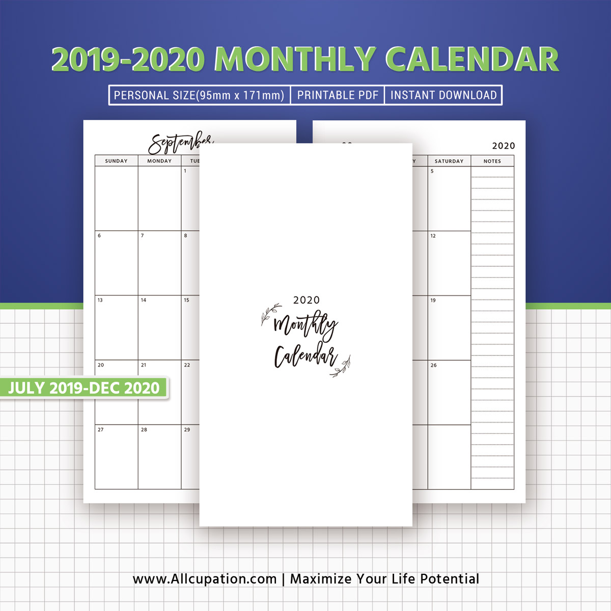 picture regarding Happy Planner Monthly Layout Printable identify 2019-2020 Regular monthly Calendar, 18-Thirty day period Dated Calendar, Every month Planner, Thirty day period upon 2 Webpages, Printable Person Measurement, Planner Inserts, Least difficult Planner