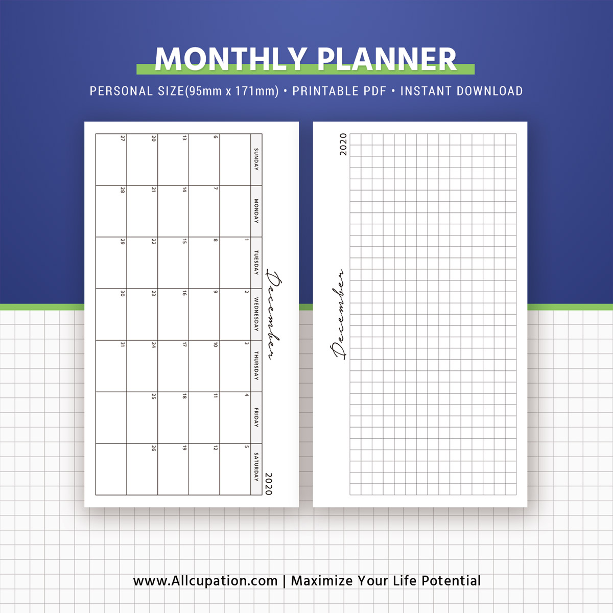 2020 2021 Monthly Planner Monthly Calendar Monthly